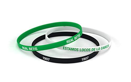 Real Betis Balompié Pulsera Classic Tricolor Estándar para Hombre | Pulsera de Silicona | Apoya al Real Betis con un Producto Oficial verdiblanco | RBB