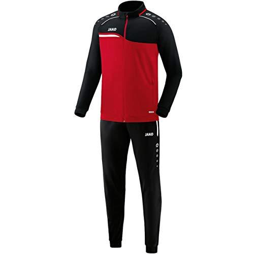 JAKO Herren Competition 2.0 Trainingsanzug Polyester, rot/Schwarz, L