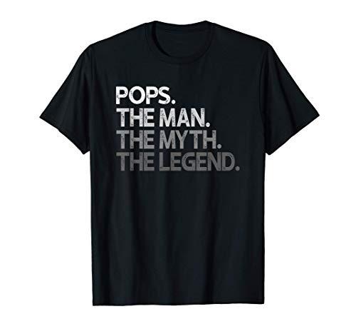 Mens Pops Shirt Gift: The Man The Myth The Legend T-Sh