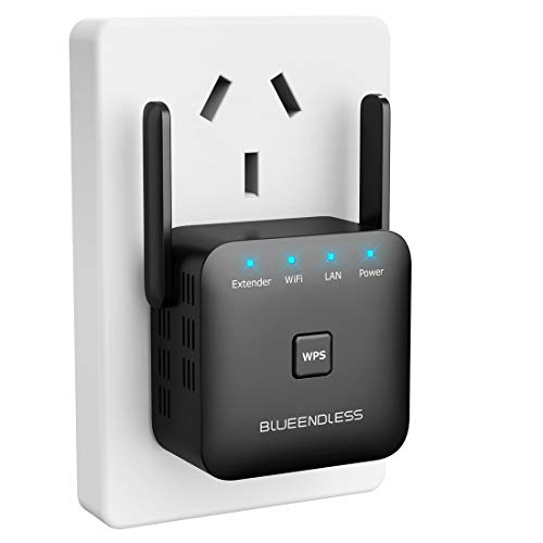 Blueendless Superboost WiFi Extender Signal Booster Long Range Coverage, Wireless Internet Signal Amplifier, Wireless Repeater up to 300 Mbps, Extends WiFi Coverage to Smart Home Devices