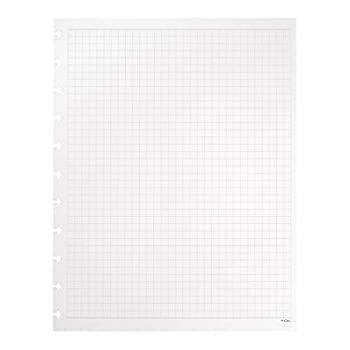 TUL Custom Note-Taking System Discbound Refill Pages 8.5  x 11  Letter Size Graph Ruled 100 Pages  50 Sheets  White