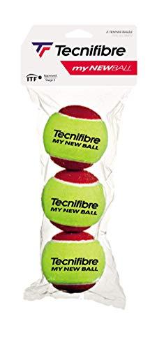 Tecnifibre - Pelotas de Mini Tenis, Unisex, Amarillo, Talla única