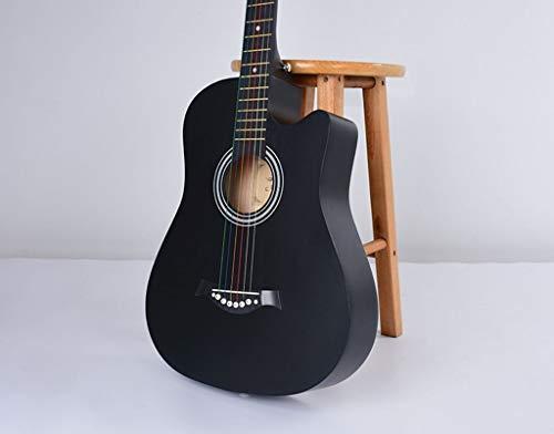 HUANH De 38 pulgadas hombres y mujeres for la práctica de la guitarra del piano de la guitarra acústica for principiantes tilo mate HUANH (Color : Pink)