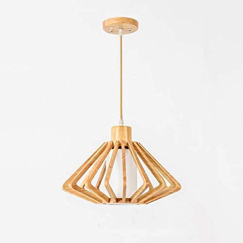 Candelabros de madera nórdicos Lámpara colgante hecha a mano,luz de techo de estilo japonés Lámpara decorativa de madera maciza creativa Lámpara de pasillo de restaurante Lámparas de pasillo de restau