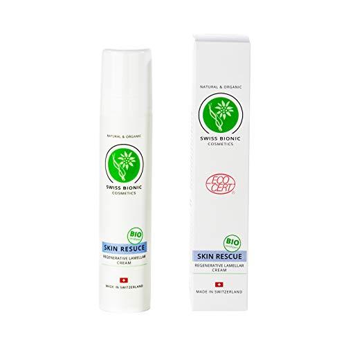 Skin Rescue Creme bei Psoriasis, Neurodermitis, Schuppenflechte & Juckreiz - BIO-zertifizierte Naturkosmetik 50ml von Swiss Bionic Cosmetics