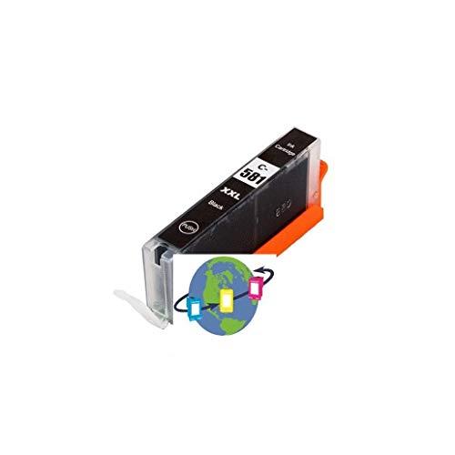 Mondial CLI-581 BK XXL - Cartucho de tinta compatible con Canon, color negro