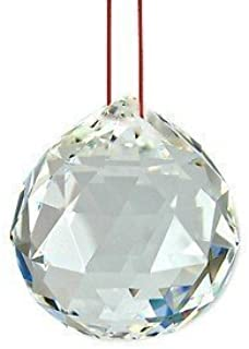 Vrindavan Bazaar Crystal Fengshui Clear Crystal Hanging Ball for Good Luck and Prosperity-30 mm