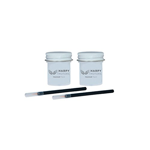 Harpy Motors 1/2oz Touch up Paint Basecoat Clearcoat with Brush Compatible with 2011-2018 Volkswagen GTI LC9A Pure White -Color Match Guaranteed