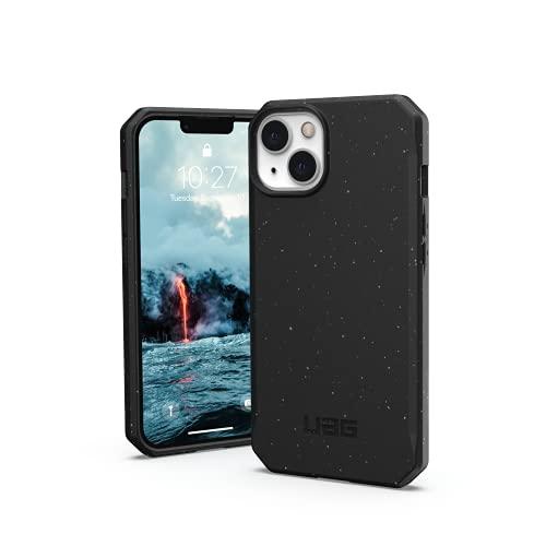 Urban Armor Gear Outback Bio Custodia compatibile con Apple iPhone 13 [Materiali biodegradabili, Compatibile con la ricarica wireless, Resistente alle cadute, Ultra sottile] nero