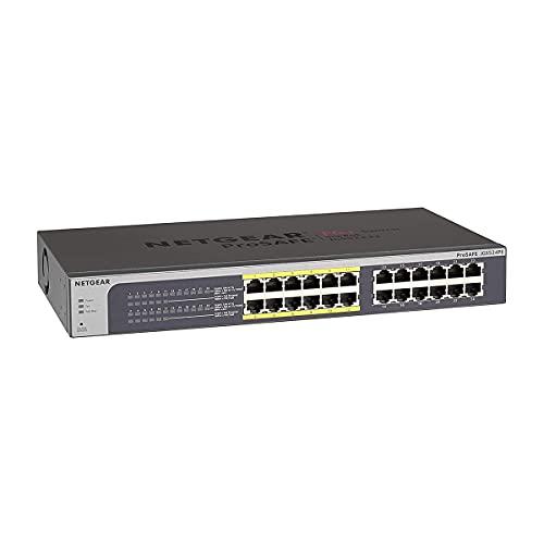 NETGEAR PoE Switch 24 Port Gigabit Ethernet Plus Network Switch (JGS524PE) - Managed, with 12 x PoE...
