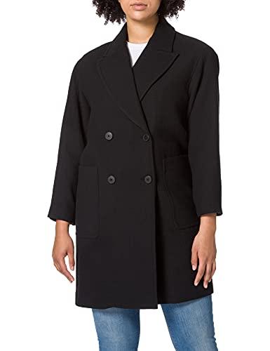 United Colors of Benetton (Z6ERJ) Cappotto 2RDD5K303 Abrigo de Vestir, Nero 700, 46 para Mujer