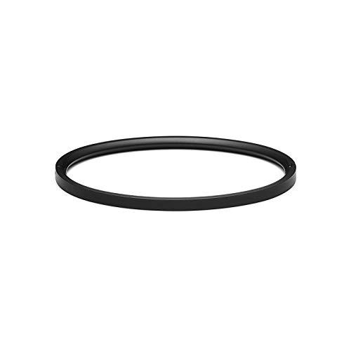 MVMT Women's Ellipse Thin Bangle Bracelet | Clasp Closure, Stainless Steel | Black