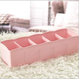 5 celdas de plástico para ropa interior, sujetadores, calcetines, organizador de corbatas, caja de almacenamiento, 20 cm x 4,7 cm x 9 cm, duradero y útil