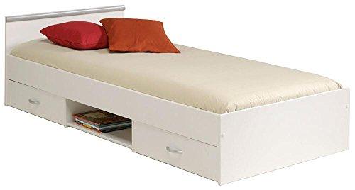 Stauraumbett weiß Jugendzimmer Bett Parisot 2038 - L2TI Mega 1.1 weiß 90x200