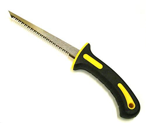 Jak Tools Sierra de pared de 15 cm – Sierra de corte de cartón, yeso o yeso con hoja de 6 pulgadas y mango de goma de agarre alto