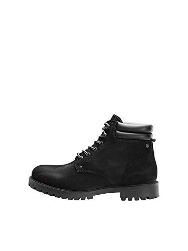 JACK & JONES Jfwstoke Nubuck Boot Mono Noos, Botas Clasicas Hombre, Negro (Black Black), 45 EU
