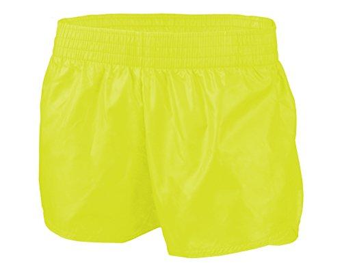 SOFFE Women's Slick Short, Neon Yellow, X-Small