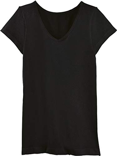 Golden Lutz - Damen Thermo-Unterhemd, T-Shirt Kurzarm (schwarz, Gr. L - 44/46)   ESMARA® Lingerie