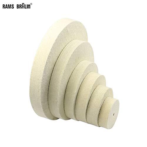 Purchase Xucus 3-12 Diameter 1 Thickness Wool Felt Polishing Buffing Wheel Jade Metal Mirror Surf...