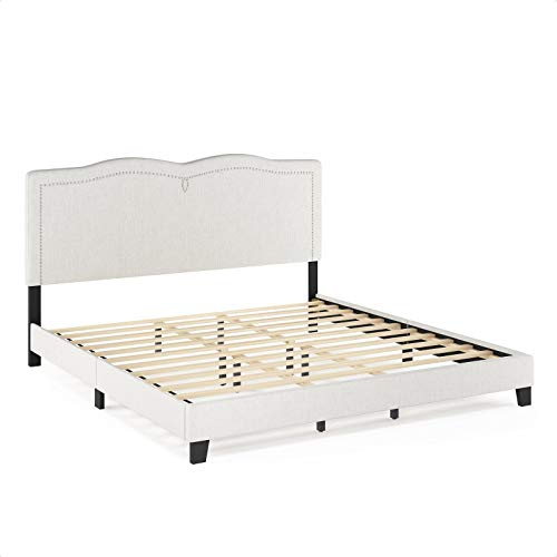 Pinson Nailhead Trim Bed Frame
