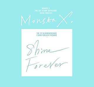 MONSTA X - SHINE FOREVER [Shine Forever A Ver.] CD+Photocard+Official Folded Poster+Extra Photo card