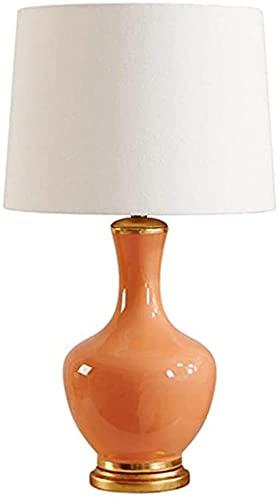 REOOHOUSE Lámpara de Sala de Estar Simple lámpara de Noche de Dormitorio decoración Creativa lámpara de Mesa de cerámica Naranja Cobre 38 * 70 cm