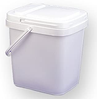 4 gal.Square Ez Stor Bucket and lid, w/Handle, 6 Pack