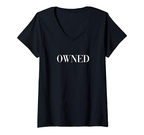 Mujer Esclavo Sexual - Propiedad Camiseta Cuello V