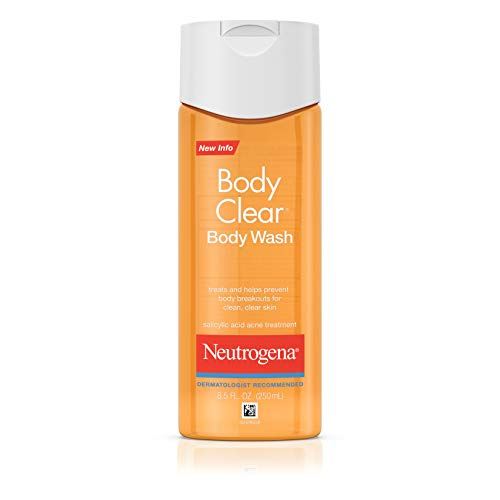 Neutrogena Body Clear Acne Body Wash with Glycerin & Salicylic Acid Acne Medicine for Acne-Prone Skin, Non-Comedogenic, 8.5 fl. Oz (Pack of 3)