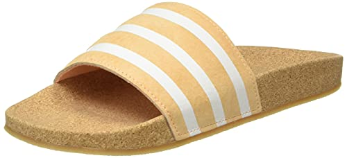 adidas Damen Adilette Slide Sandal, Acid Orange/Core White/Core White, 38 EU