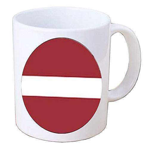 Taza de la bandera de Letonia,Joyería de la bandera,Taza de café de la bandera,TAP257