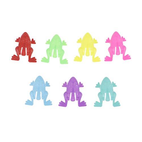 TOYANDONA Springende Frösche Mini Finger Drücken Lustige Kinder Frosch Spielzeug Party Begünstigt Spielzeug Frosch Springen Spielzeug für Jungen Mädchen Wettbewerb Preise 100 Stück (Zufällige Farbe)
