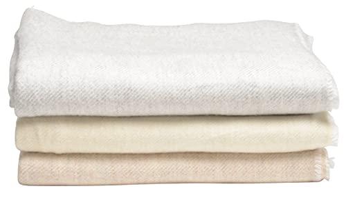 Dèvi Geneva Überwurf aus Kaschmirwolle, 145 x 270 cm, luxuriös, extra groß & weich für Sofa, Bett, Couch, Sofa (grau)
