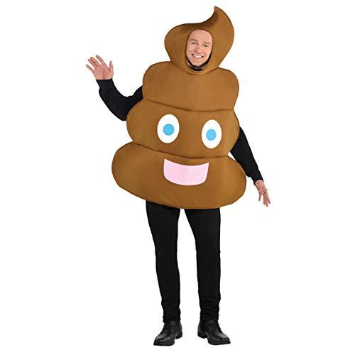 Amscan 848471-55 - Disfraz de emoticono para adulto (talla M), color marrón , color/modelo surtido