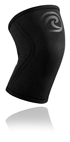 Rehband Rx Knee Support - 5mm - Carbon Black - Large - 1 Sleeve
