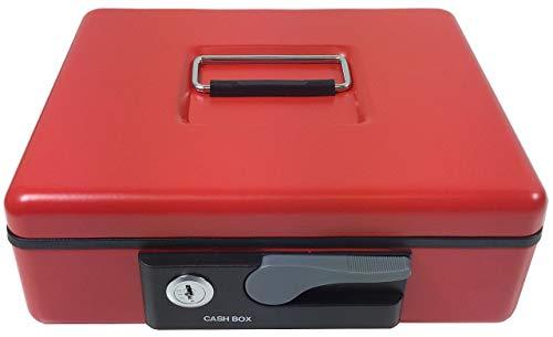 ACROPAQ AGDE230R DeLuxe geldcassette, 230 x 197x 82 mm, muntensorteerder, rood