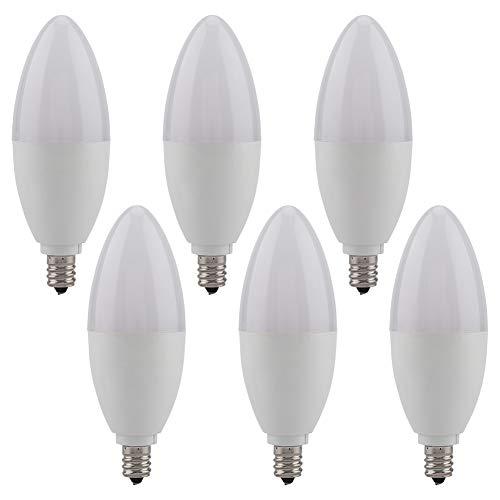 6pcs E12 LED Kerzenlampe Kandelaber Dekorationslicht 5W Lampe Warmweiß