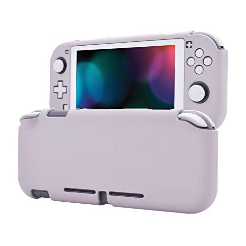 eXtremeRate PlayVital Funda para Nintendo Switch Lite Carcasa Tacto Suave Estuche Acoplable con Protector de Pantalla de Vidrio Templado Protectora Duradera para Control Switch Lite(Rapsodia Violeta)