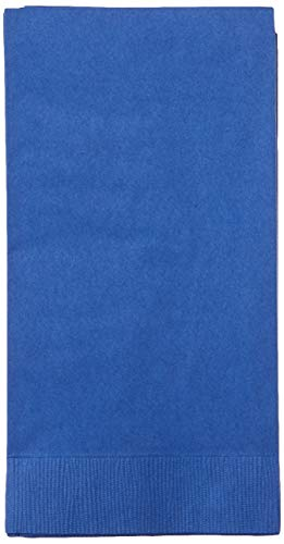 50-Count Touch of Color Paper Dinner Napkins, Cobalt