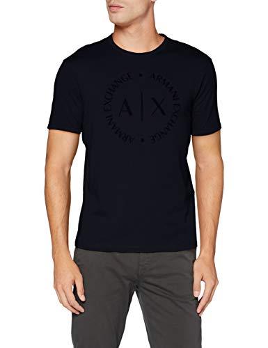 Armani Exchange 8nztcd Camiseta, Azul (Navy 1510), Medium para Hombre