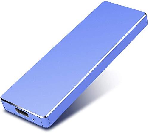 Esterno Hard Drive 2TB, portatile Hard Drive esterno per PC, Laptop e Mac (2TB, Blue-A)