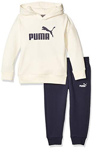 PUMA Little Boys' Fleece Hoodie Set, Whisper White, 5