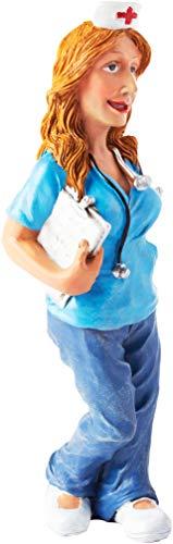 BRUBAKER Enfermera - Profesión Personaje Figura de Comic - 5 x 17 cm - x 5 cm - con Estetoscopio y portapapeles - Idea de Regalo Trabajo Divertido