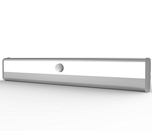 Rechargeable Closet Light, Lemontec Motion Sensor Cabinet Light, Stick-On Anywhere Portable 10 LED Drawer Night Light/StairsLlight/Step Light 3 Pack