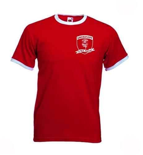 Lincoln City FC The Imps Retro Football Club T-Shirt LNER Stadion (rot, 3XL)