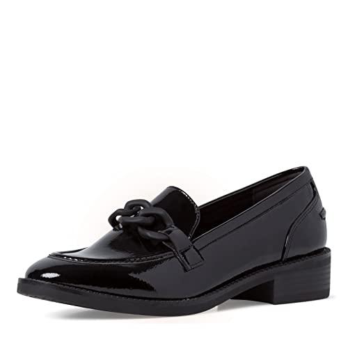 Tamaris Damen Slipper, Frauen Slipper,Comfort Lining,TOUCHit-Fußbett,College,Schuhe,Businessschuhe,Slip-ons,Slipper,Black PATENT,36 EU / 3.5 UK
