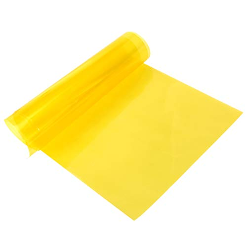Vorcool - Película adhesiva amarilla para faros de coche y moto, para decoración y protección de 30 x 100 cm