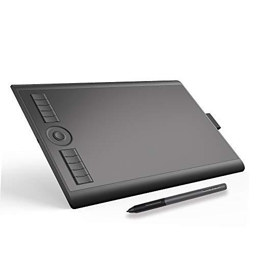 GAOMON M10K PRO AndroidおよびRadial機能対応 傾き検知可能ペンタブレット8192筆圧充電不要のペン10ショートカットキー付き-10 x 6インチデジタルお絵描きペンタブ