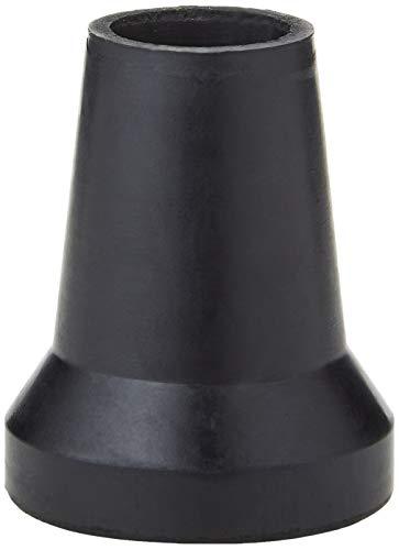 Sysfix Contera de goma negra para muletas y bastones de 21 mm diámetro con arandela metálica - 4 Conteras