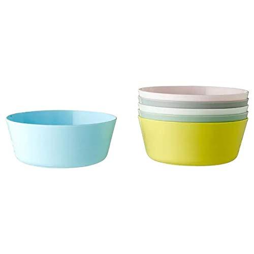 Ikea Juego de cuencos de plástico, 6 piezas, multicolor